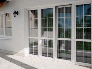 панорамные окна со шпроссами