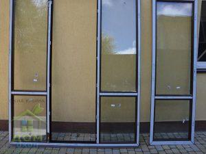 ламинированные цветные пластиковые окна темный дуб Rehau в кореизе
