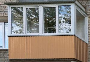 Остекление п-образного балкона